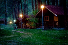 база ночью