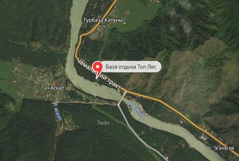 База отдыха ТопЛес на карте